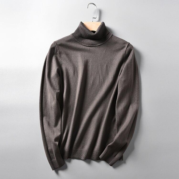 Hommes de 2019 hivers d'automne col roulé raglan manches pull en tricot couleur pure de cultiver sa moralité,