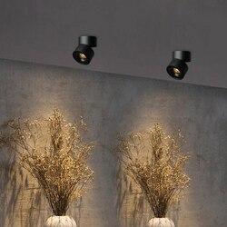 Wpuszczone led typu downlight z możliwością przyciemniania 6W 9W 12W COB reflektor led dekoracja led lampa sufitowa AC 110V 220V oprawy oświetleniowe