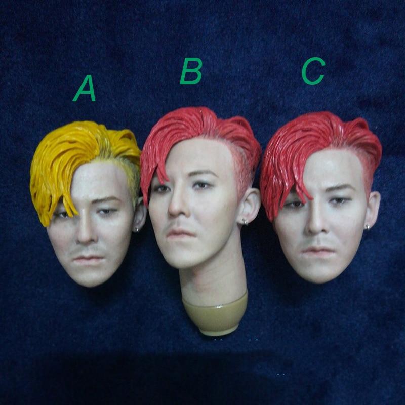 1/6 skala Kwon Ji Yong Kopf Sculpt mit Haar für 12''Male Körper Rot und Gelb Haar-in Action & Spielfiguren aus Spielzeug und Hobbys bei  Gruppe 1