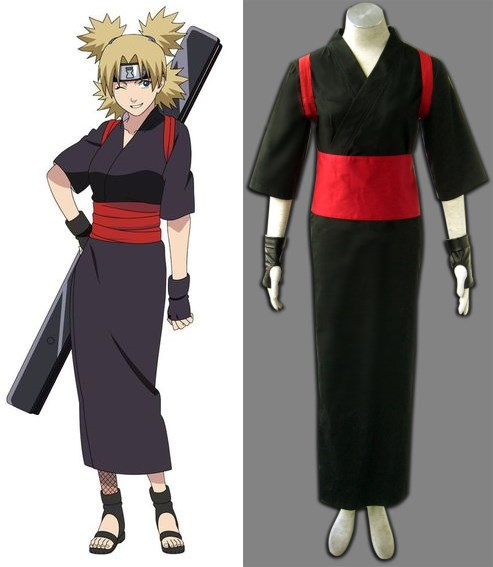 Naruto Temari Kimono Adult Children Cosplay Costume Halloween Anime New