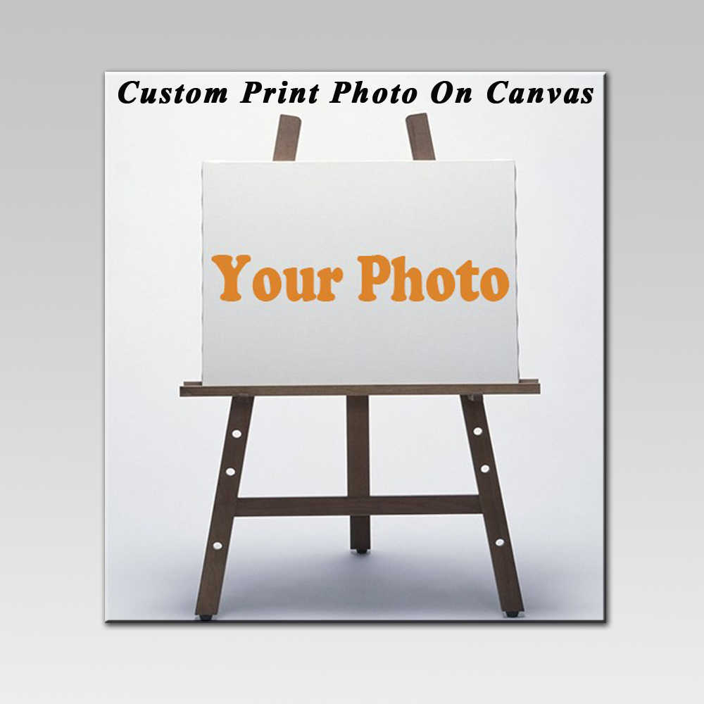 1 Piece Waterproof Unframed Art Painting Custom Your Art Photos On Canvas Customize Print Your Family Baby or Souvenir Picture