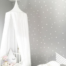 240 cm bebé fotografía atrezzo baby room decoration home bed canopy Mosquitera cortina Ronda Cuna bebé de algodón tienda colgado