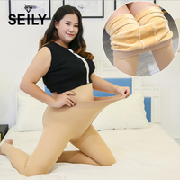 Super Elastic Thick Velvet Pantyhose Plus Size Crotch Tights Warm Winter Women Collant Stretchy Femme Magical