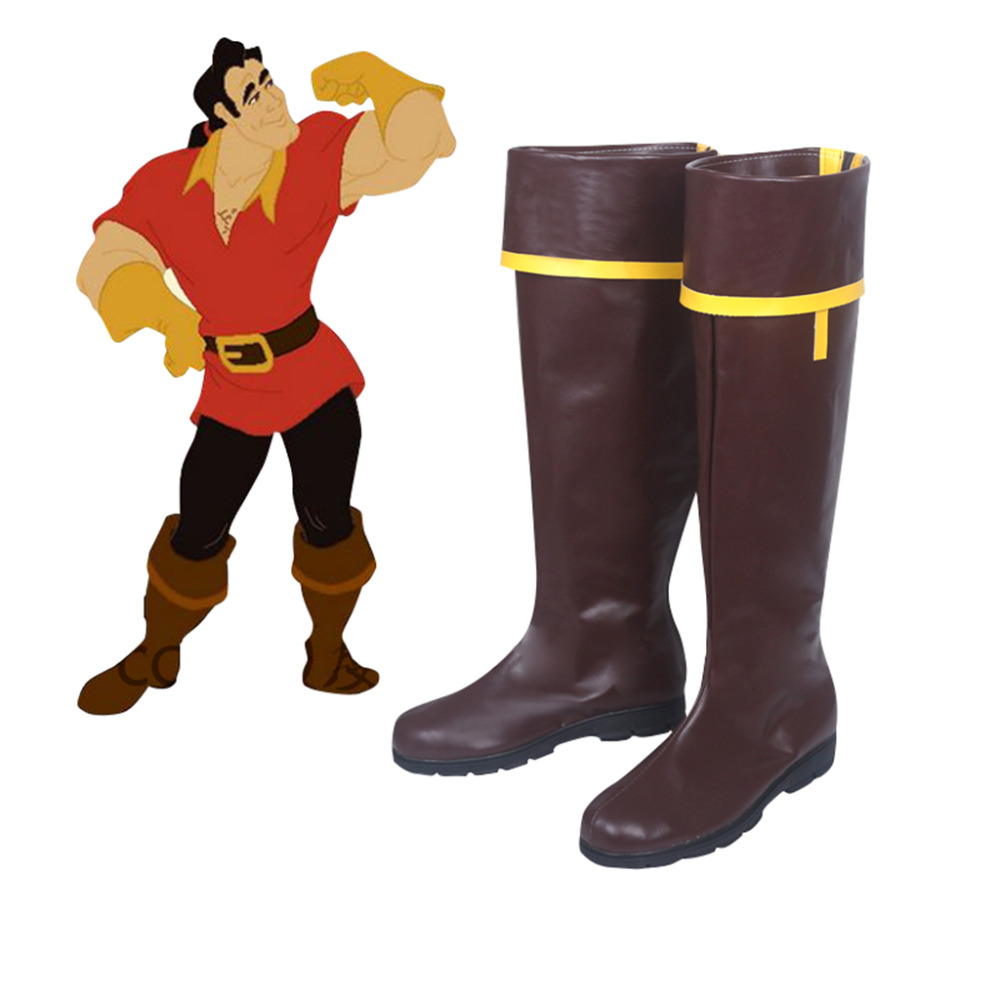 Beauty And The Beast Cosplay Shoes Boots Halloween Carnival Cosplay Accessories Adult Men