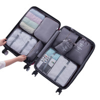 8Pcs Travel Bags Sets Waterproof Packing Cube Portable Clothing Sorting Organizer Luggage Accessories Supplies Products