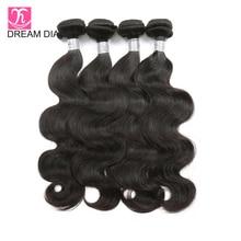 DreamDiana Remy Hair Brazilian BodyWave 4 Bundles Deals Tissage Bresiliens 1B 10