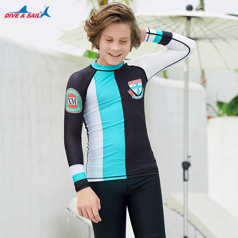 acec86133 US $6.49 35% OFF|Kids Youth Quick Dry Athletic Compression Shirt Long  Sleeve Rash Guard Top UPF50+ Swim Surf Tee for Boys Girls UV Sun  Protection-in ...