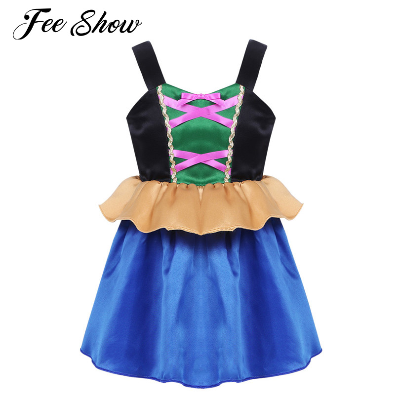 Baby Girls Cosplay Party Dress Theme Party Role Play Costumes Princess Girls Halloween Costume Cosplay Dress Kids Girls Clothes