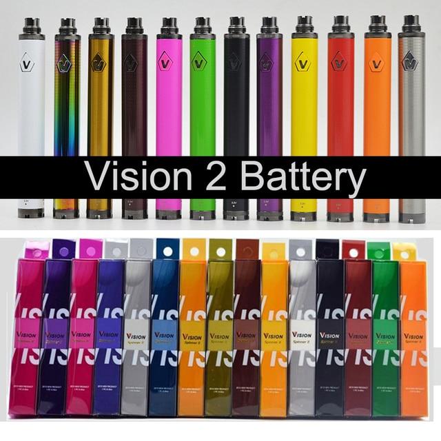 Chất Lượng hàng đầu Vision2 Pin Thuốc Lá Điện Tử 1600 mAh 3.3 ~ 4.8 V Tầm Nhìn II cái tôi Xoắn Pin cho Thuốc Lá ĐIỆN TỬ ego Atomizers