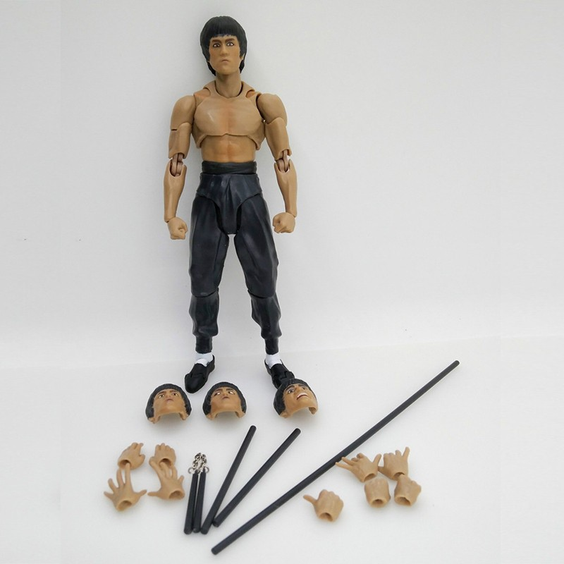2 Type Bruce Lee Figure Variant SHF S.H.Figuarts With Nunchaku PVC Action Figures  In Box (2)