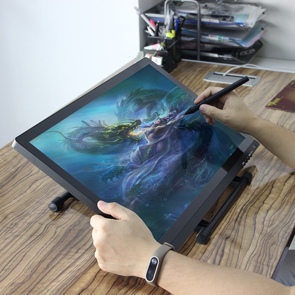 21.5 High Resolution 1920x1080 LED 5080LPI HD Graphics Digital Drawing Tablet Writing Pad Adjustable Stand with2048 Levels