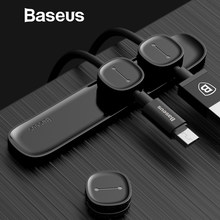 Baseus Magnetic Cable Clip For Mobile Phone USB Data Cable Organizer For USB Charger Cable Magnetic Holder Desktop Cable Winder(China)