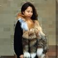 2017 personalized fur scarf women 120cm super fur fox tail scarves girls banquet luxury gold fox shawl women custom