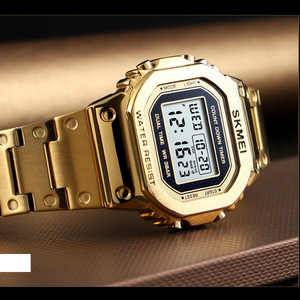 Image 3 - スポーツ腕時計男性電子 Led デジタルメンズ腕時計トップブランドの高級男性時計防水時計レロジオ Masculino SKMEI