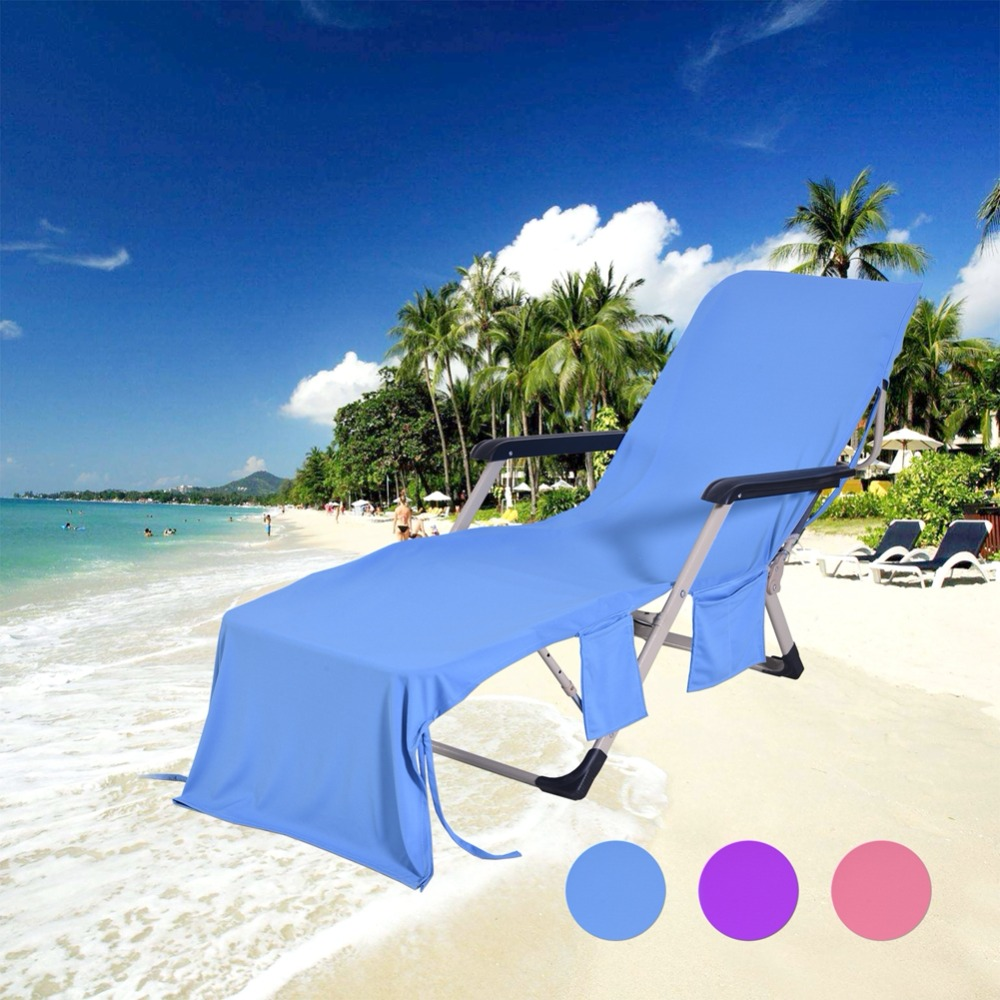 Beach Towel Adults Sun Lounger Bed Holiday Garden Swimming Pool Lounge Pockets Carry Bag Chairs Cover Bath Towel пляж на самуи