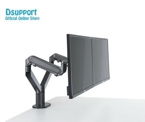 Image 3 - Soporte de escritorio para montaje de Monitor de doble brazo, soporte de Monitor de aluminio totalmente ajustable Monitor de resorte de Gas montaje de TV para OZ 2 de 17 32