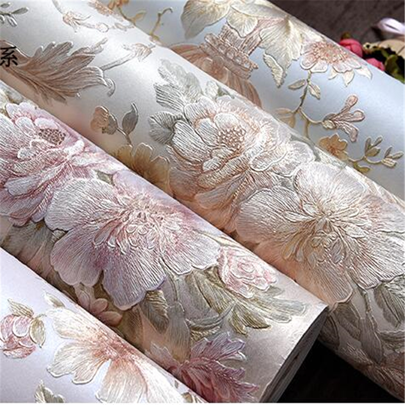 beibehang  3d three - dimensional rural  wallpaper bedroom living room TV background wall warm romantic large flower wallpaper spring abundant flowers rich large mural wallpaper living room bedroom wallpaper painting tv background wall 3d wallpaper