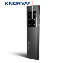 Knorvay n99 레이저포인터트충전식 무선 발표자 레이저 포인터 에어 마우스 발표자 2.4 ghz ppt usb 원격 제어