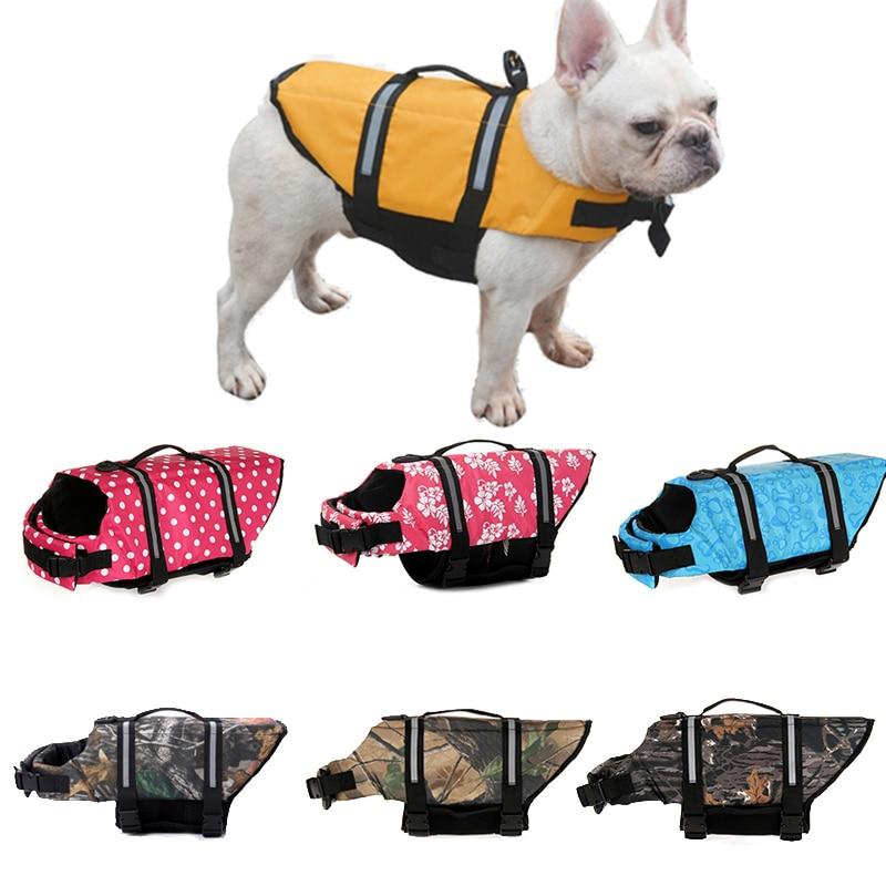 Safety Pet Dog Life Jacket For Dogs Summer French Bulldog Shih Tzu Swimwear Puppy Big Dog Clothing Vest Tshirt Zwemvest Hond
