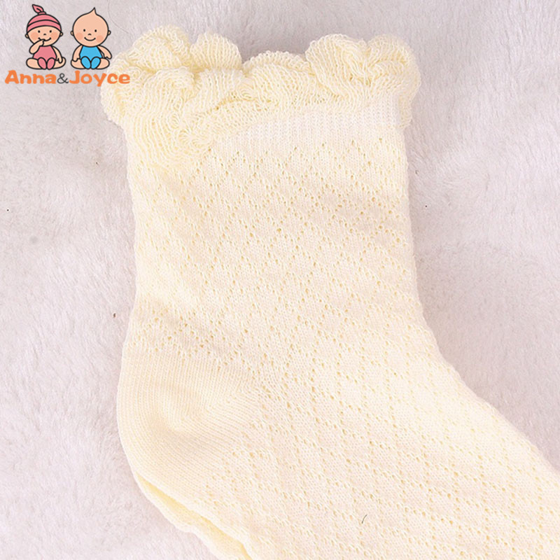 10 пар/партия, летний стиль, тонкие хлопковые сетчатые носки для малышей, носки для младенцев, girlatws0034