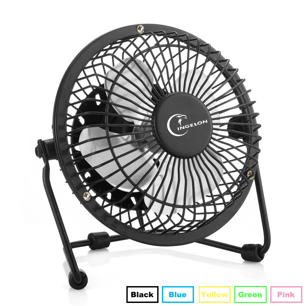 Ingelon USB Fan Mini portable Fans Table Desk Personal FAN Black Blue Green gadgets Dropshipping for Notebook Laptop usb gadget
