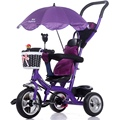 Luxury Infant Baby Stroller Tricycle Bicycle Children Steel Frame Pneumatic Wheel with Awnings Umbrella Kids Learning Bike Prams