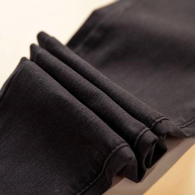 Women Denim Pants Black Color Donna Stretch Bottoms Feminine Skinny Pants Trousers 6