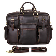 New Men's Genuine Leather Briefcase Male Vintage Travel Shoulder Bag Men Business Briefcases a Laptop Messenger Bags For Men