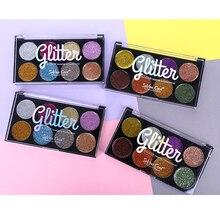 Blueness 8 Colors Eyeshadow Palette Waterproof Lasting Beauty Glazed Matte Shimmer Glitter Pigment Eye Shadow Makeup Pallete