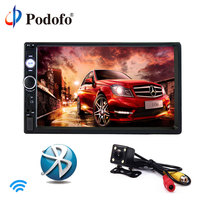 Podofo 2 Din Car Radio Car Multimedia Player 7 Car Stereo Player MP5 Touch Display Bluetooth