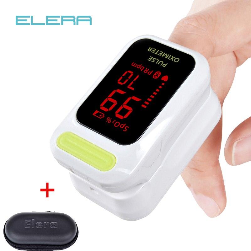 ELERA Neue Automatische Finger-pulsoximeter Mit Fall Blut Sauerstoff Sättigung SpO2 PR LED CE oximetro de dedo pulsoximeter