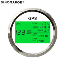 Free Shipping! 85mm Universal GPS Speedometer 0~299 MPH, Knots, Km/h Motorcycle Boat Trucks Black White