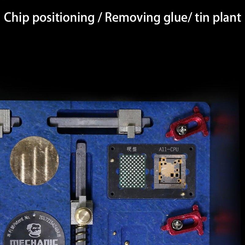 Mecânico C18 Plataforma de Retrabalho Solda Suporte de Aquecimento Elétrico Multifuncional de Alta Temperatura Para o iphone X - 4