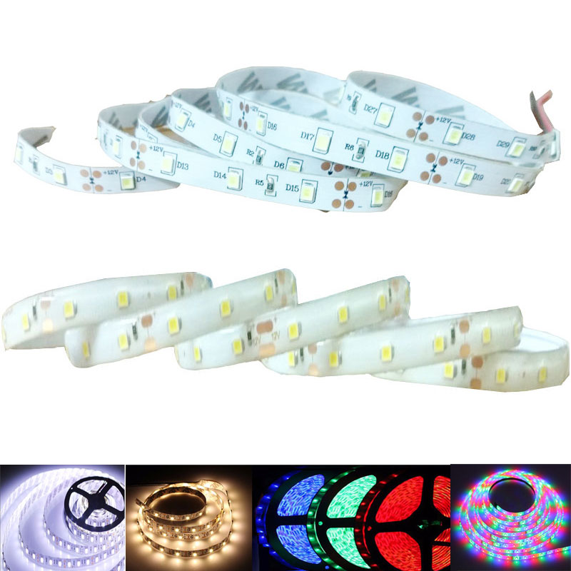Led Strip Dimmable 1m 2m 3m 4m 5m 2835SMD 12V Tiras Led White Warm White Red Blue Green Rgb Waterproof Fita De Led Backlight Tv