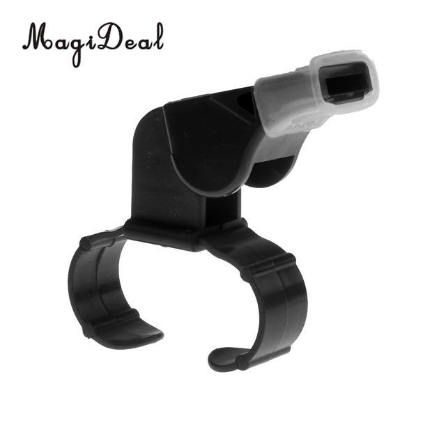 MagiDeal 1Pcs Plastic Derby Skate/Football/Sport Referee Finger Mouth Grip Whistle Black Vintage Plastic Whistle for Kayaking