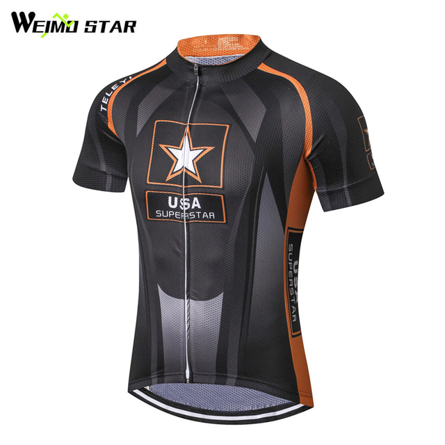 2d08f6936 Weimostar 2018 USA pro team Cycling Jersey Men Mountain mtb Bike Jersey  Bicycle Shirt Breathable Cycling