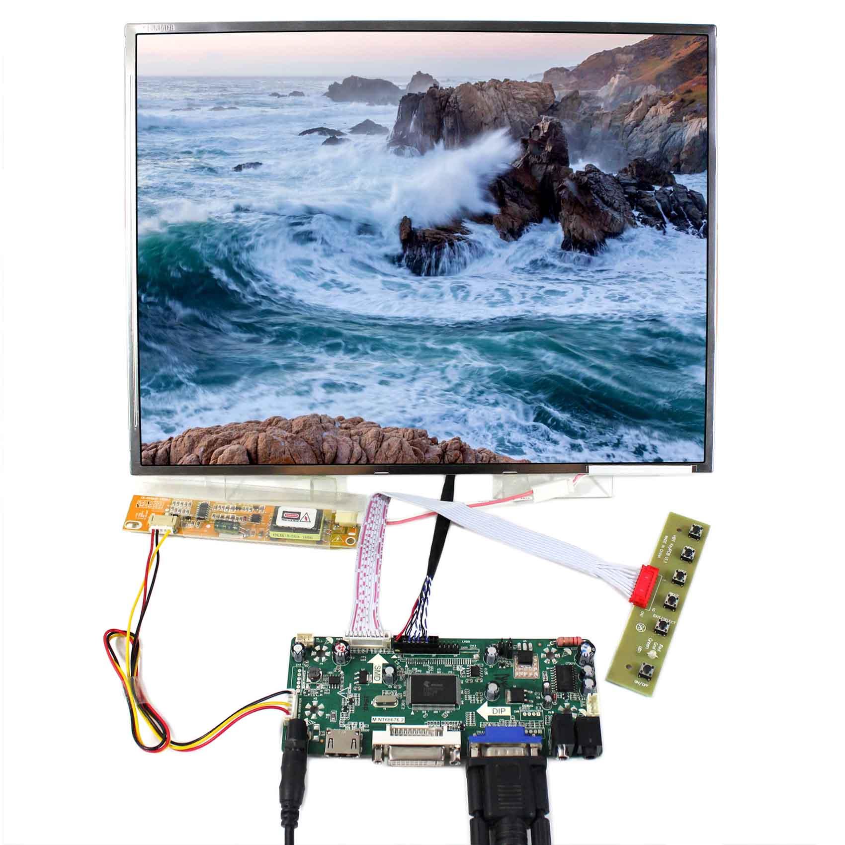 HDMI DVI VGA Audio LCD Driver Board M NT68676 With 14 1inch LTN141XF LP141XA N141X6 1024x768