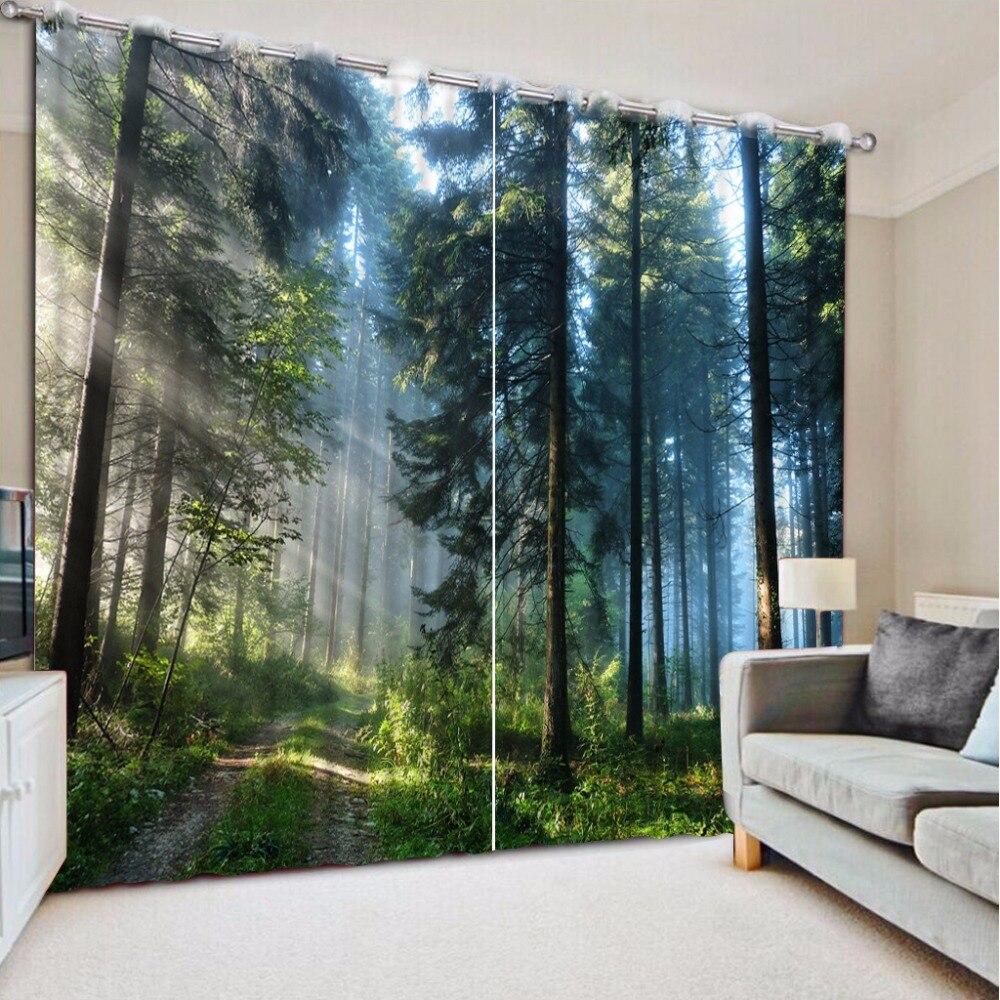 3d Fenster Vorhang Nebligen Wald Luxus Blackout Wohnzimmer Buro