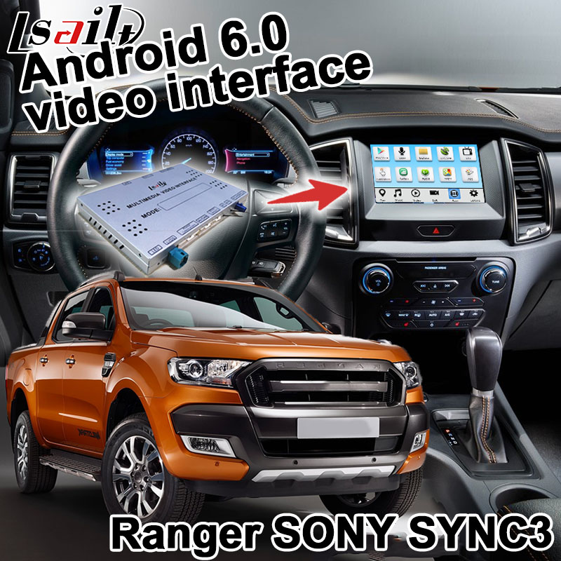 Android boîte de navigation pour Ford Ranger F-150 etc vidéo interface SYNC 3 miroir lien Carplay waze youtube boîte quad core GPS navi