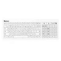 Bastron B45 USB Medical Keyborad IP67 Waterproof Glass TouchPad Wire Health Keyboard Ergonomic Slim for Clinic Sickroom lol