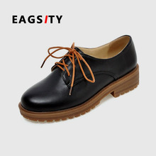 Fashion casual women lady office lady student black oxford girl shoes