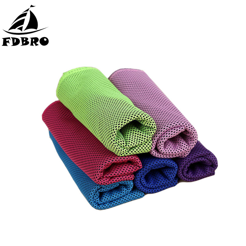 FDBRO Sport Towels Quick Dry Cooling Face Ice Towel Chill Workout Sports Fitness Gym Running Sweat Absorbing Instant Cool Towel