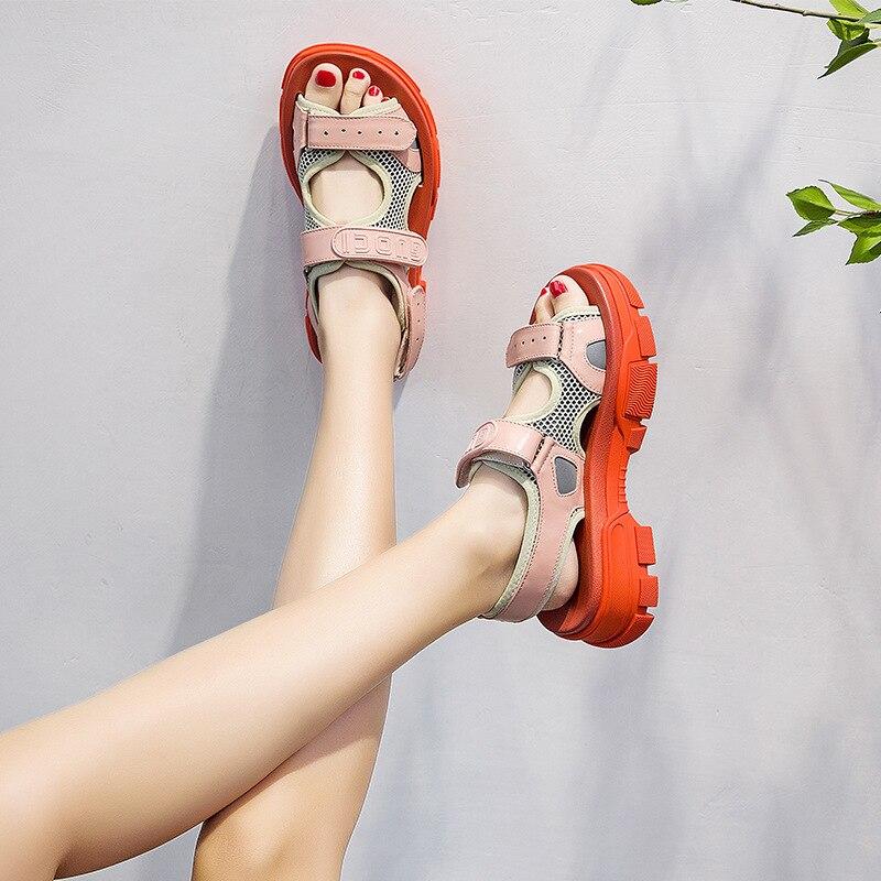 Zapatos de mujer, sandalias gruesas, zapatos de mujer, sandalias de playa de verano, sandalias de mujer 2019 de Patchwork para mujer, zapatos de mujer blancos ¡Novedad de 2020! Sandalias para mujer, Sandalias con tacón de mula de tiras, sandalias para mujer de tacón alto, sandalias con punta cuadrada, sandalias de fiesta para mujer