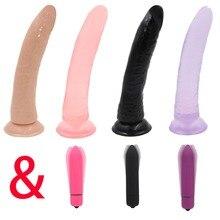 YEMA 4 Color Jelly Dildo&Vibrators for Women Realistic Penis Anal Dildo