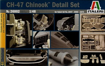 Out of print! Italeri 26002 1:48 Scale CH-47 Chinook Detail Set Model Kit