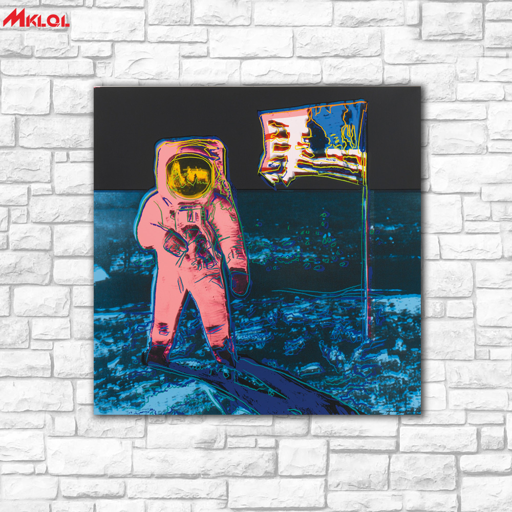 Aliexpress.com : Buy Wall Art USA Astronaut Oil Painting