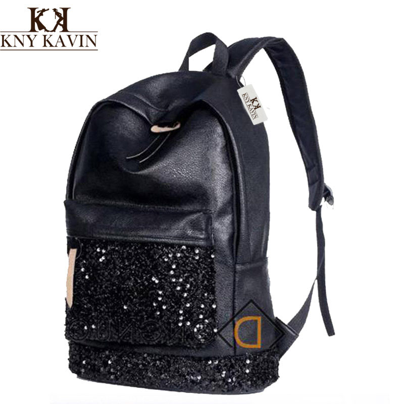 Women Backpack Big Crown Embroidered Sequins Backpack For Woman Wholesale Women Leather Backpack School Bags New 2016 Fashion