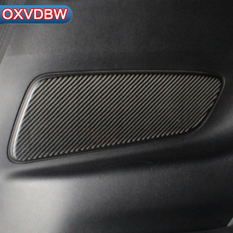 For Ford Mustang Accessories Carbon Fiber Back cover plate decoration Panel Cover Trim Sticker Car Styling 2015 2016 2017 airspeed carbon fiber car console frame stickers for ford mustang 2015 2017 car center control panel ac cd covers car styling