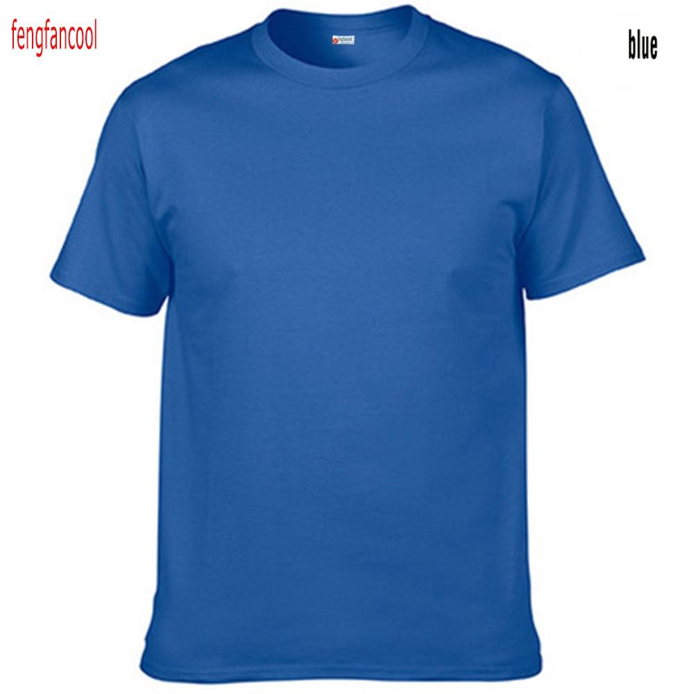 Fengfancool Marke 100% Baumwolle Männer leer T-Shirt, hochwertige - Herrenbekleidung - Foto 1