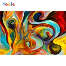 Yeele Oil Paint Colorful Abstract Dreamy Baby Room Photography Backgrounds Customized Photographic Backdrops for Photo Studio